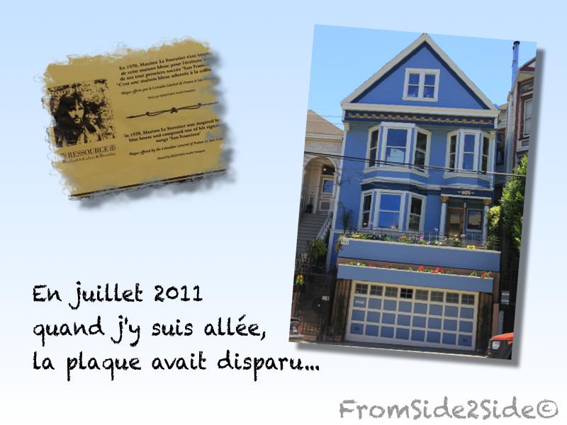 San francisco et la maison bleue for Adresse maison bleue san francisco