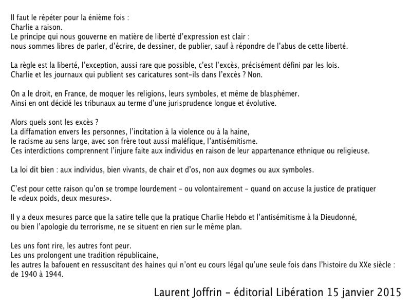 editorial Laurent Joffrin - 15 décembre 2015