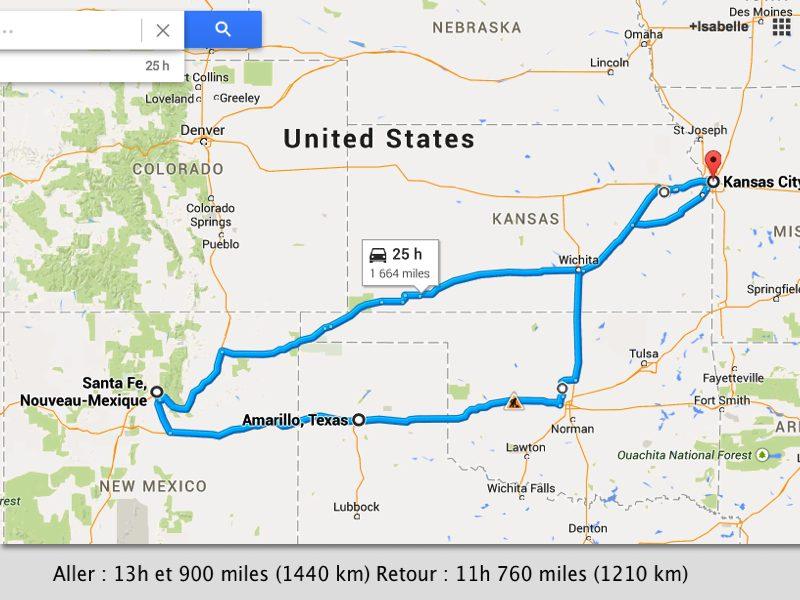 récit de vacances au Nouveau Mexique